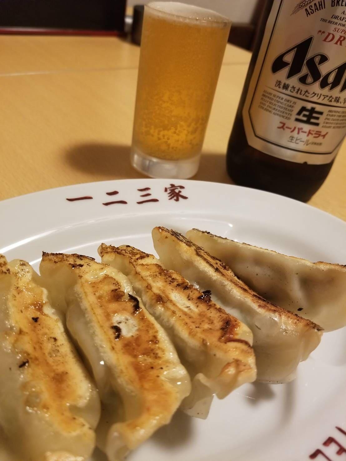 餃子 ビール