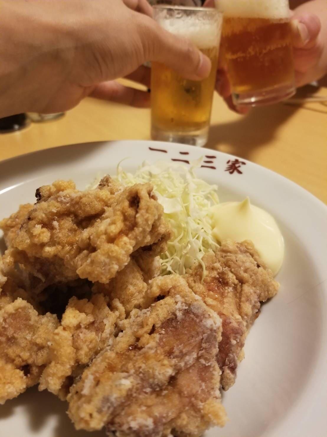 唐揚げ ビール